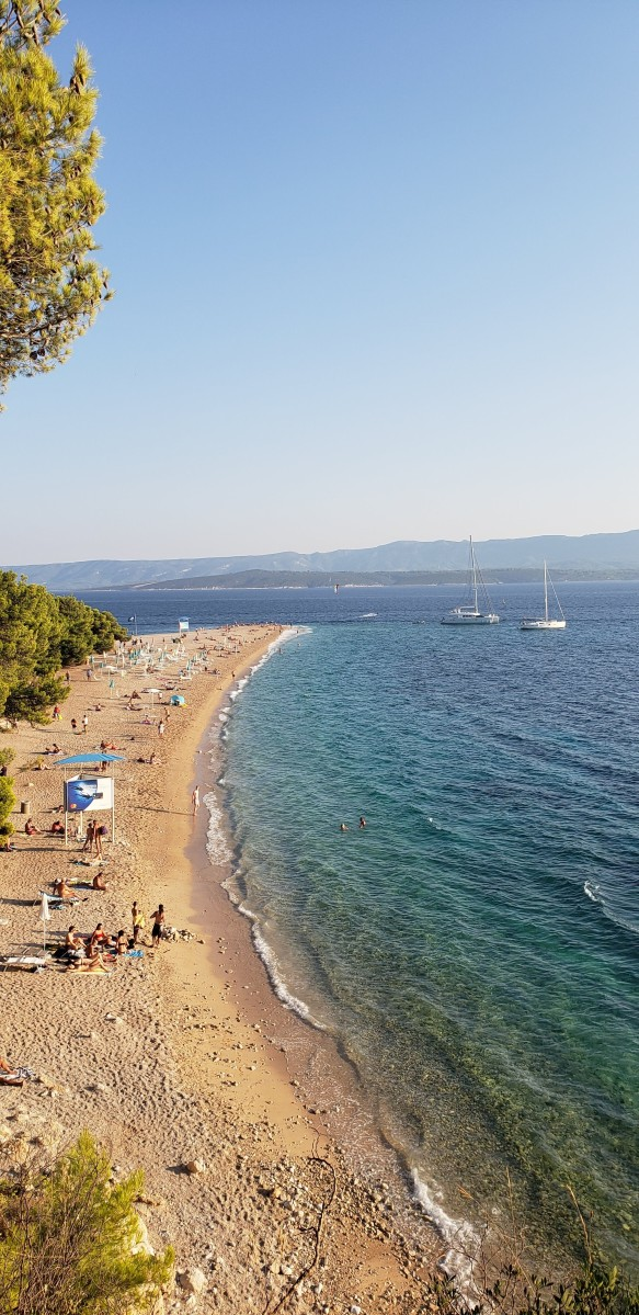 Zlatni Rat seen from nearby park