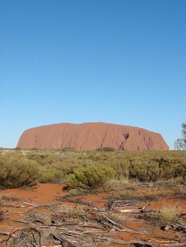 Uluru as seen on an Emu Run Tours day trip.