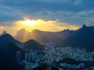 Sunset over Rio de Janiero, Brazil