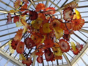 I love art and always try to see an exhibit or museum where I'm at, like this Chihuly exhibit.