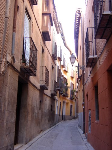 Narrow streets in Toledo