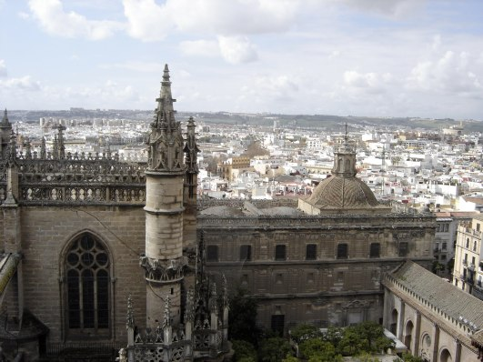View from the top of the cathedral, Sevilla