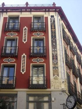Bright buildings near plaza mayor