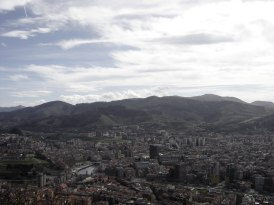 View of Bilbao from the top of the funicular.