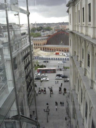 The view from Museo Reina Sofia, Madrid