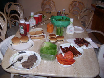 BBQ dinner in. You don't have to be fancy to save money!