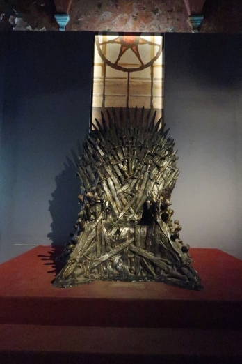 Iron throne at the visitor's center