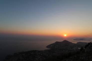 Sunset from Mount Srd