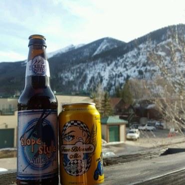 Apres ski beers at the airbnb