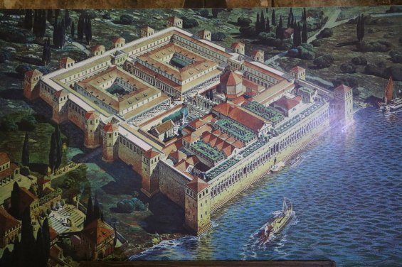 Rendering of Diocletian's Palace back in the day