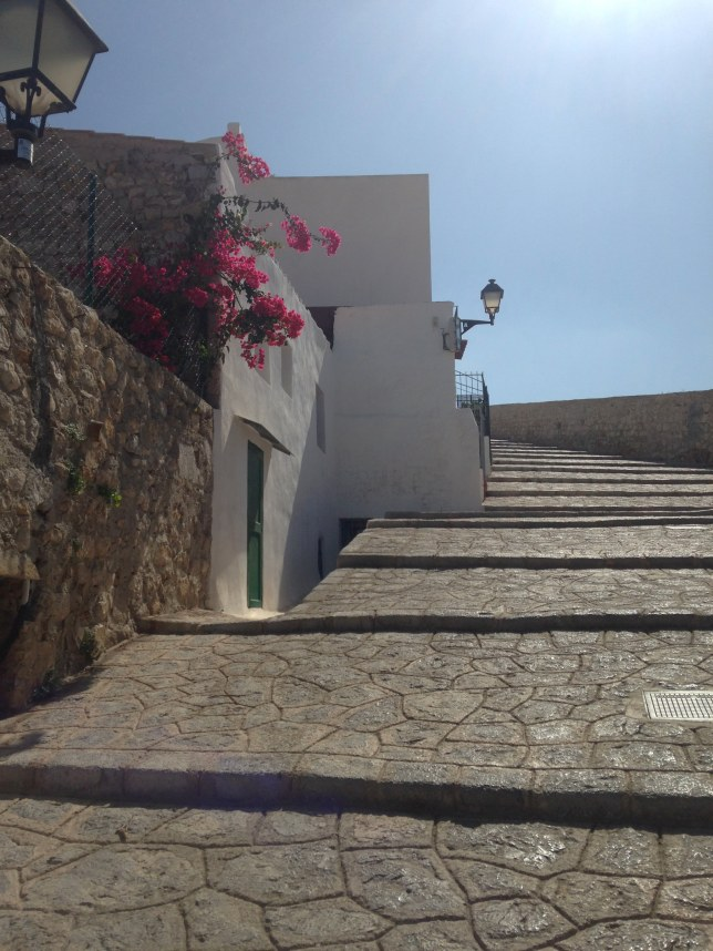 Walking in old town, Ibiza
