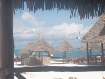 The view from my budget accommodations in Zanzibar.