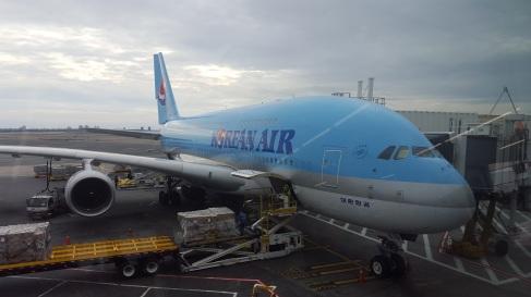 The Boeing 747 we took to Korea