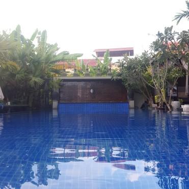 Khmer Mansion's pool, in Siem Reap