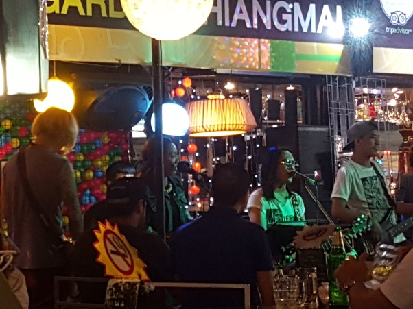 Live music at the walking street market