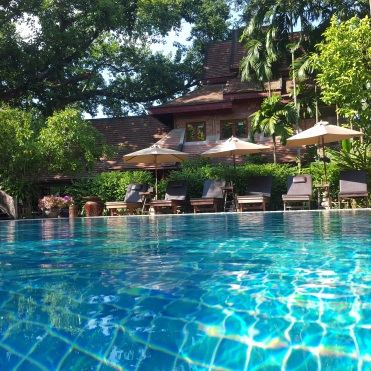 Yaang Come Village's pool, Chiang Mai