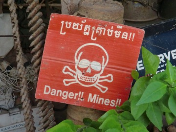 Learning about the painful impact of land mines