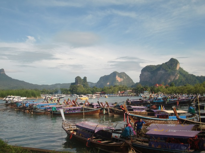 Longtails in Krabi harbor