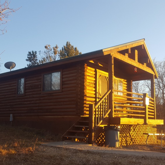 Our cabin at the ranch