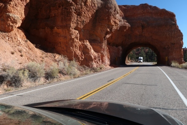 NBD, just a hole in a rock to drive through.